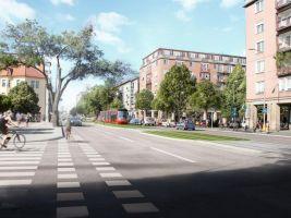 zdroj reality.etrend.sk Popisek: Vizualizace nové tramvajové traťe