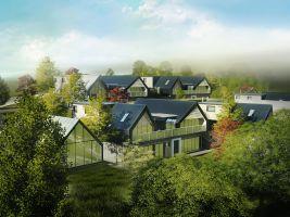 Návrh zelené čtvrťi projektu Český soběstačný dům