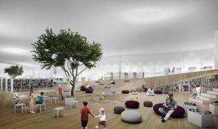 Nová knihovna ve Finsku je stavbou budoucnosti, nabízí roboty, nahrávací studia i živé stromy