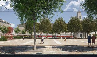 Nové náměstí Míru v Brně ozdobí stromořadí i kolonáda