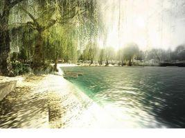 "zdroj Nordic Investors/ Popisek: Jezero v rámci projektu ""Nové Vajnory"""