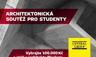 O sto tisíc korun od Central Group a stáž u architekta Josefa Pleskota letos soutěží třicet šest studentů architektury