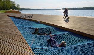 Obnova východní strany jezera Paprocany v Polsku od RS+