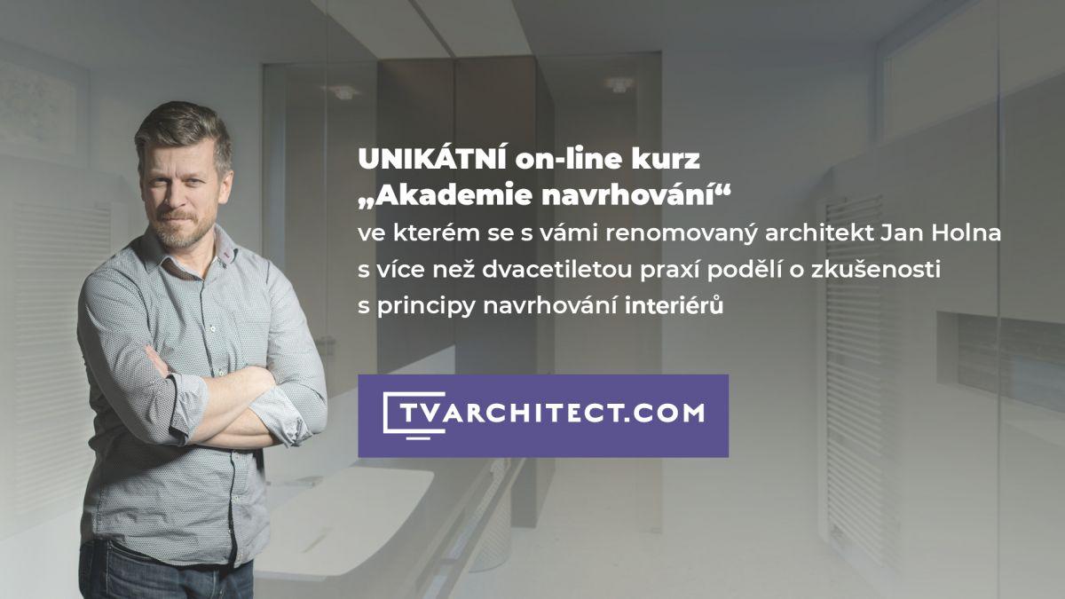 Absolvujte online kurz navrhování interiérů s architektem Janem Holnou a vyhněte se nejčastějším chybám