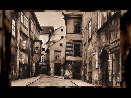 Historická fotografie části Praha Josefov