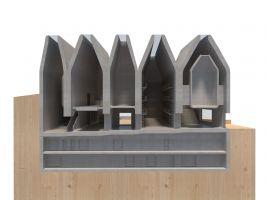 zdroj earch.cz/ Popisek: Model přístavby muzea