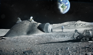 Lunar habitations by Foster + Partners