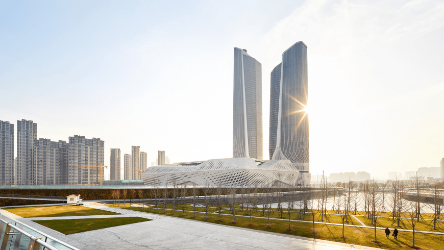 Nanjing International Youth Cultural Centre by Zaha Hadid: an excellent legacy of the 2014 Youth Olympic Games