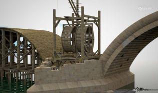Stavba pilířů a klenebních polí Karlova mostu a její virtuální rekonstrukce