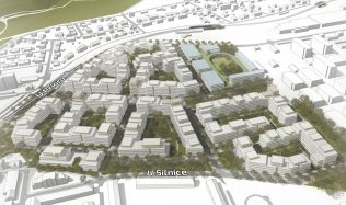 Central Group v Praze plánuje novou městskou čtvrť. Autorem projektu je architekt Jakub Cigler.