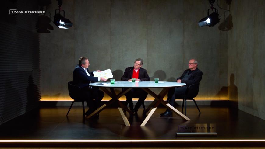 U jednoho stolu: Josef Pleskot a Dušan Kunovský nad projektem Rezidence Park Kavčí Hory