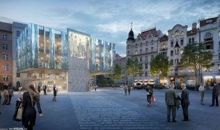 Prostranství u hotelu InterContinental v centru Prahy je trnem v oku České komoře architektů