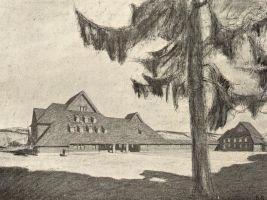 zdroj archiweb.cz Popisek: Projekt hotelu v Schatzenwaldu na Šumavě