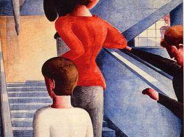 zdroj wikipedie Popisek: Schodiště Bauhausu, OSkar Schlemmer, 1932