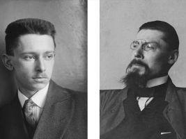 zdroj mgml.si Popisek: Dva velikáni, Otto Rothmayer (vlevo) a Jože Plečnik