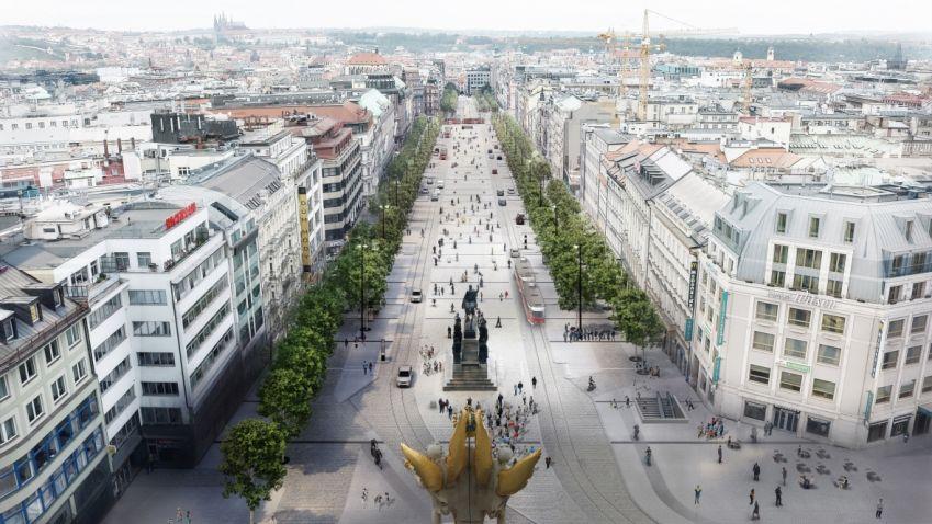 Po patnácti letech plánování začíná oprava spodní části Václavského náměstí