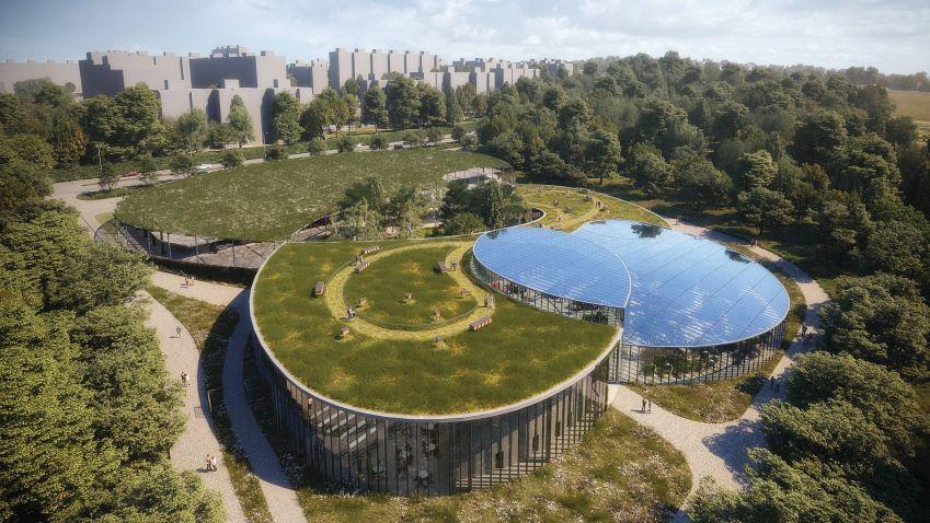 Pražská botanická zahrada bude mít nový vstup, od Fránek Architects