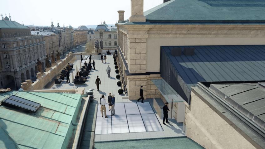 Pražské Rudolfinum otevře střešní terasu pro veřejnost