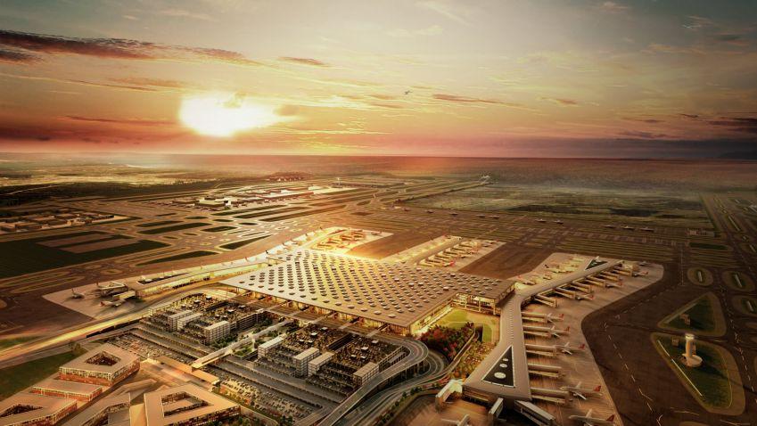 Prezident Erdogan otevřel nové turecké letiště, má se stát největším na světě