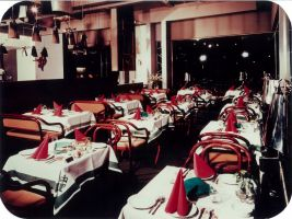 Historická fotografie restaurace Primátor v hotelu InterContinental Praha
