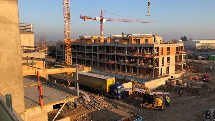 Projekt Bleriot v pražských Kbelích je ve fázi hrubé stavby