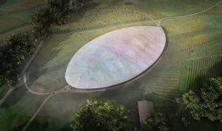 Projekt na budoucí podobu sídla Botanického ústavu připomíná plod ovoce