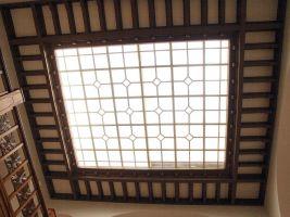 Prosklený strop vstupní haly