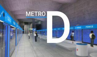 První dvě stanice metra D výtvarně ztvární umělci Jakub Nepraš a Vladimír Kokolia
