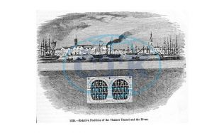 První podvodní tunel na světě otevřeli v Londýně roku 1843