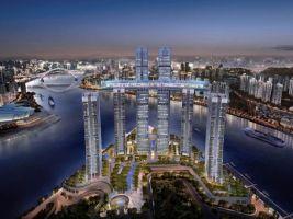 zdroj CapitaLand Popisek: Vizualizace projektu Raffles City