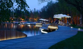 Redevelopment of the east side Paprocany lake shore in Tychy, Poland by RS+