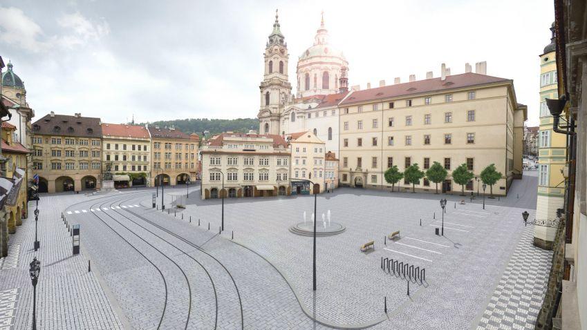 Revitalizace Malostranského náměstí jde do finále. Začít stavět by se mělo ještě letos