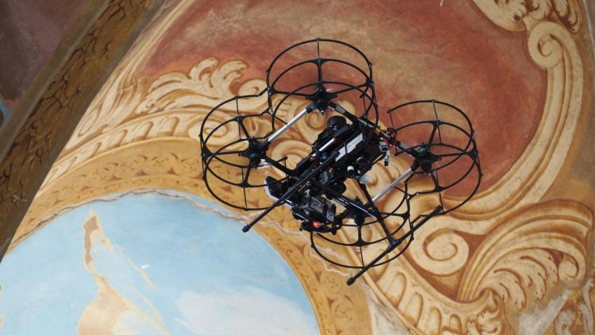Robotické drony pomáhají historikům v mapování významných objektů