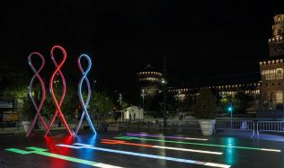 Smart Square art instaliation in Milan, Italy by Progetto CMR