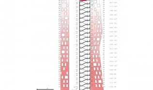 Soutěžní návrh na proměnu mrakodrapu N-Tower. Hlasujte pro návrh autorů Baková, Bubeníková!