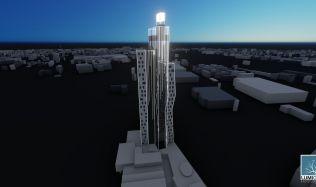 Soutěžní návrh na proměnu mrakodrapu N-Tower. Hlasujte pro návrh autorů Dvorská, Faryová, Poláková!