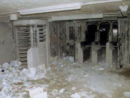 zdroj amny.com Popisek: Původní stanice pohřbená pod sutinami WTC