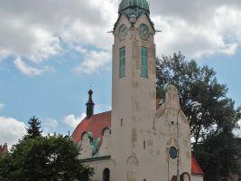 zdroj Wikimedia commons/ Miroslav Rejha Popisek: Starokatolický kostel Povýšení svatého Kříže, Jablonec nad Nisou