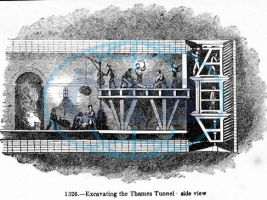 zdroj ČTK/ Popisek: Stavba tunelu pod Temží