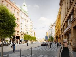 TaK Architects Popisek: Ulice Na Poříčí, vizualizace
