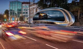 The Kensington, a digital billboard for JCDecaux in London, UK by Zaha Hadid Design