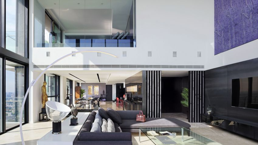 Triplex Penthouse At The Pano Residence In Bangkok Thailand By Ayutt And Associates Design