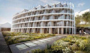 TV Architect představuje: Neobvyklá novostavba bytového domu Holečkova 26 (Richard Doležal)