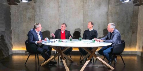 U jednoho stolu: Jakub Cigler, Petr Vágner a Dušan Kunovský nad projektem Centrum Nového Žižkova