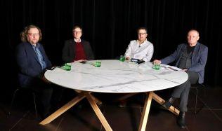 U jednoho stolu: Petr Hlaváček, Josef Pleskot a Martin Krupauer na téma Vltavské filharmonie