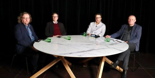 U jednoho stolu - U jednoho stolu: Petr Hlaváček, Josef Pleskot a Martin Krupauer na téma Vltavské filharmonie