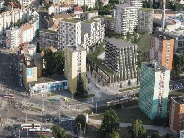 V Brně vznikne za miliardy komplex bytů s obchody i kavárnami