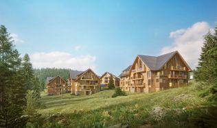 V Krkonoších vyrostou horské apartmány s hotelovými službami Aldrov Apartments & Resort
