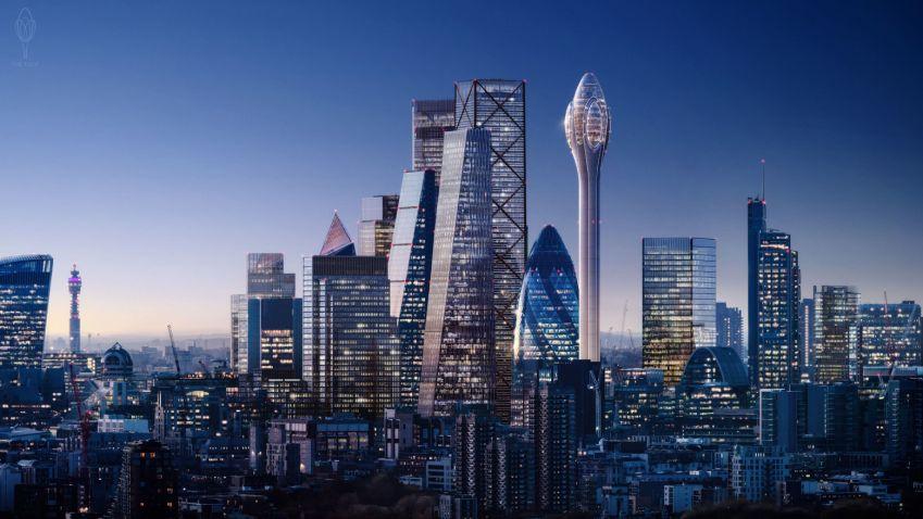 V Londýně vyroste zvláštní Tulipán, bude nejvyšší budovou čtvrti City