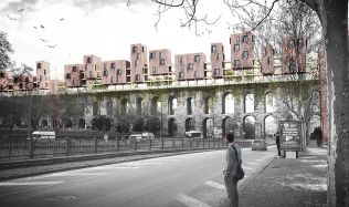 Valens Archway Housing Units proposal in Istanbul, Turkey by SuperSpace
